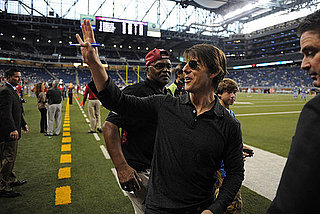 Photos of Tom Cruise and Connor Cruise at a Lions Game in Detroit; Tom Filming Wichita With Cameron Diaz in Boston