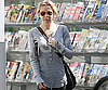 Slide Photo of Renee Zellweger Carrying a Newspaper in LA