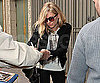 Slide Photo of Sienna Miller Signing Autographs in NYC