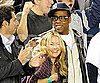 Slide Photo of Kate Hudson and Jay Z Watching Yankees Play in NYC