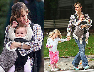 Photos of Jennifer Garner in Boston with Violet and Seraphina Affleck