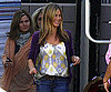 Slide Photo of Jennifer Aniston Smiling on Set of the Baster