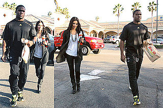 Photos of Kim Kardashian and Reggie Bush Back Together in LA
