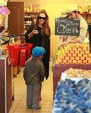 Photos of Jolie-Pitts Shopping in France