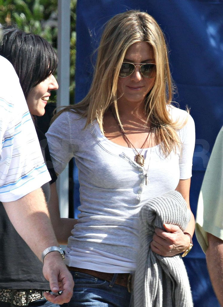 Photos of Jennifer Aniston Filming The Baster