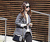 Slide Photo of Rachel Bilson Walking Out of Office Building In LA