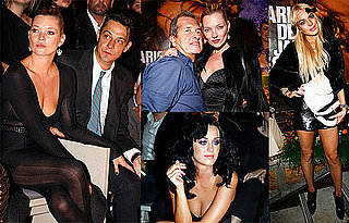 Photos of Lindsay Lohan, Kate Moss, Katy Perry At Paris Fashion Week Yves St. Laurent Show and Mario Testino Book Party