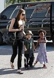 Photos of Angelina with Zahara and Shiloh