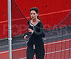 Slide Photo of Katie Holmes Running at Boston Track