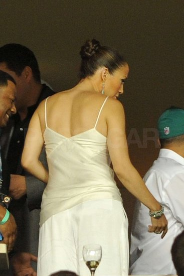 Photos of Jennifer Lopez at the Miami Dolphin Game