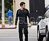 Slide Photo of Orlando Bloom Walking in LA Wearing Workout Clothes