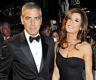 Slide Photo of George Clooney and Elisabetta Canalis Walking the Red Carpet