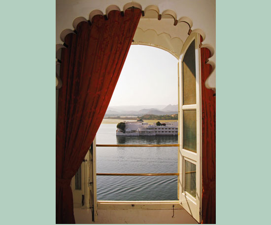 View From a Room at the White Taj Lake Palace