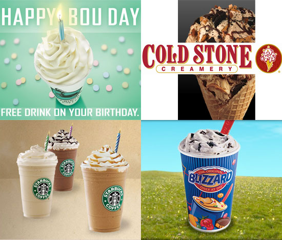 Sweet Freebies For Your Birthday