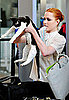 Evan Rachel Wood Travels With Her Cat and Laptop