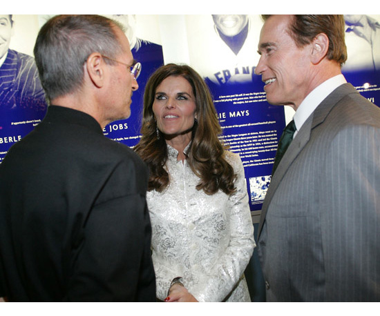 Schmoozing With Arnold and Maria
