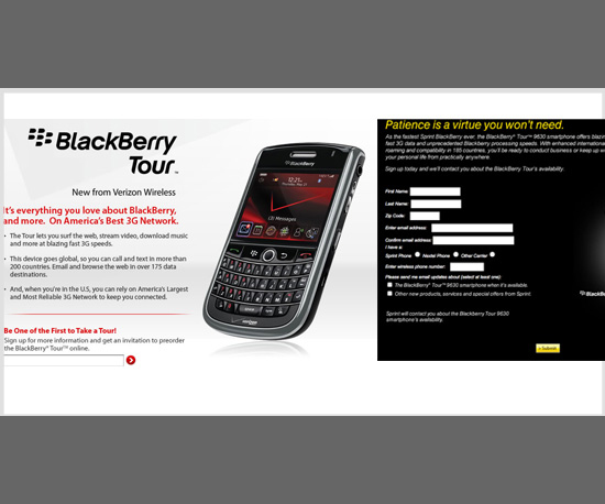 BlackBerry's New Phone, the Tour, Announced
