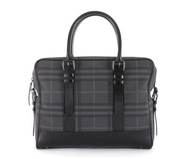 $795 Burberry Check Laptop Bag