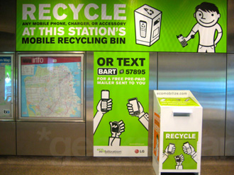 LG Teams Up With BART to Encourage Cell Phone Recycling