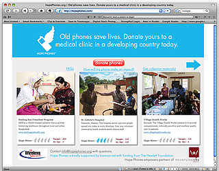 Website Hope Phones Sends Old Cell Phones to Medical Clinics in Developing Countries