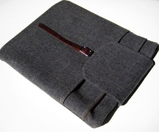 Grey Wool Laptop Cozy ($50)