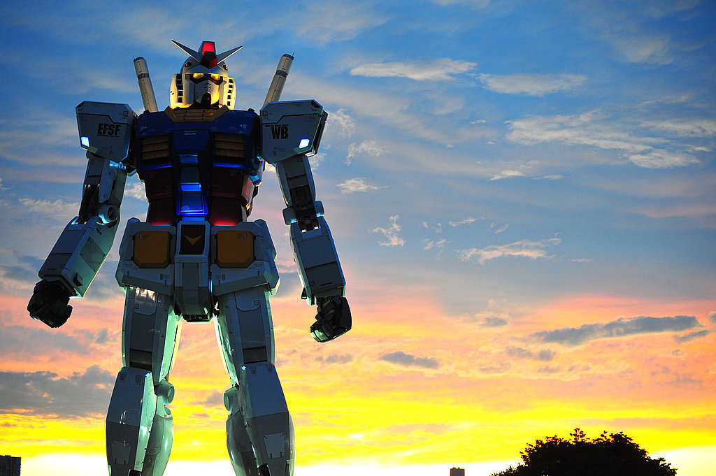 Photos of the Gundam Statue in Japan