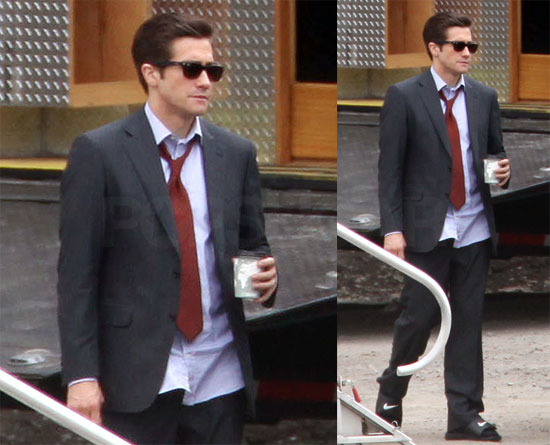 Photos of Jake Gyllenhaal on Set