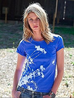 Model Angela Lindvall Creates an Eco-Friendly Tee For Yoox.com