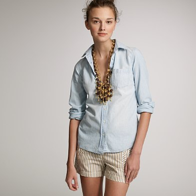 J.Crew Washed Chambray Perfect Shirt