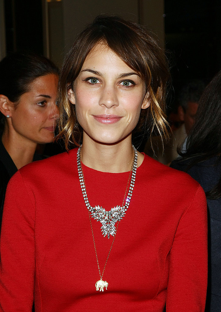 Alexa Chung Wearing Her Lucky Elephant Necklace
