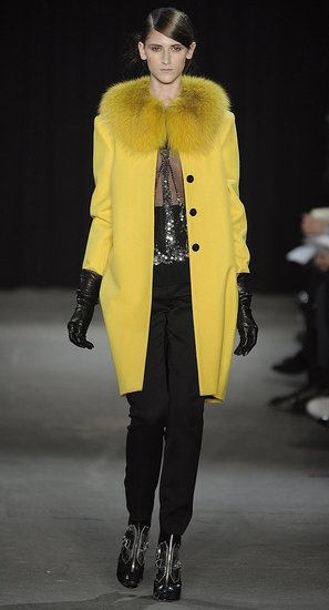 Thakoon's Vibrant Yellow Fur-Trimmed Coat