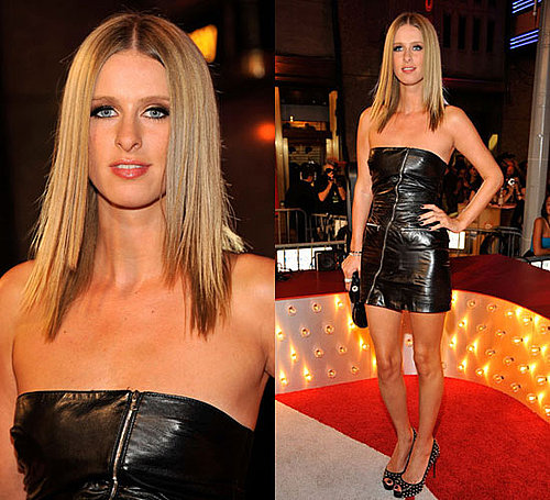 Photo of Nicky Hilton in Leather Dress at 2009 MTV Video Music Awards