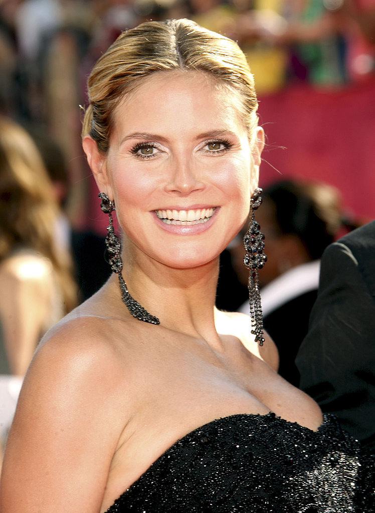 Heidi Klum's gothic drop earrings.