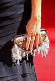 Alyson Hannigna's dripping bead clutch.