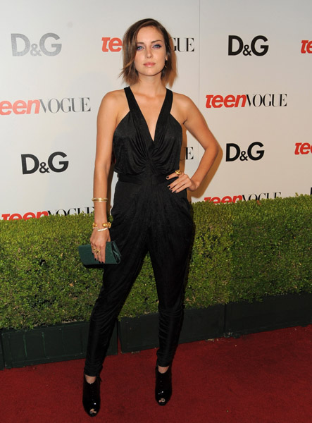 Jessica Stroup Risking It in a Sassy Black Jumpsuit