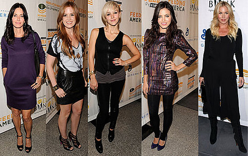 Photo of Courteney Cox, Isla Fisher, Catherine McPhee, Jenna Dewan, and Christina Applegate at Rock a Little, Feed A Lot in LA 2009-09-30 12:30:22