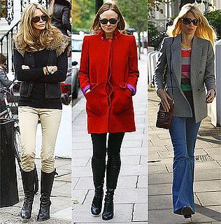 Claudia Schiffer, Stella McCartney, and Elle MacPherson Drop Their Kids Off at School in London
