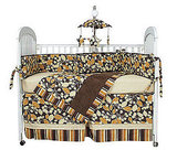 Cocoa Orange Crib Linens