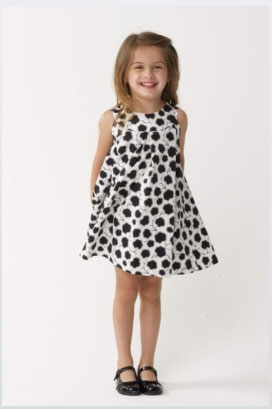 Cotton Ball Print Dress