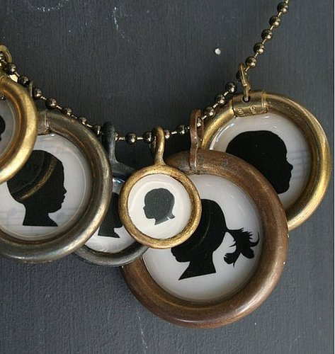 Custom Necklaces and Paintings of Family and Kid Silhouettes