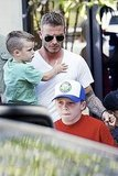 Mini Me: David and Cruz Beckham Rock Matching Haircuts