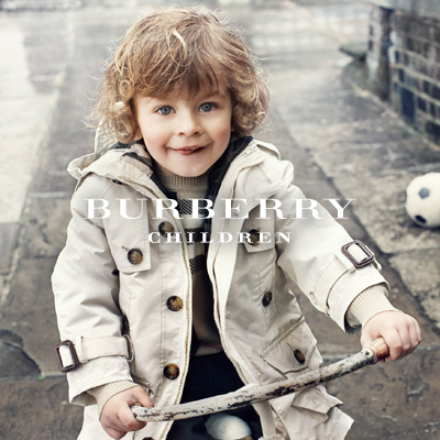 Despite the fact that the rain has only stopped for a moment, you can be sure when your child gets stuck in the rain on the ride back home, your child will be nice and dry in Burberry's 100 percent cotton weather-proofed classic trench.