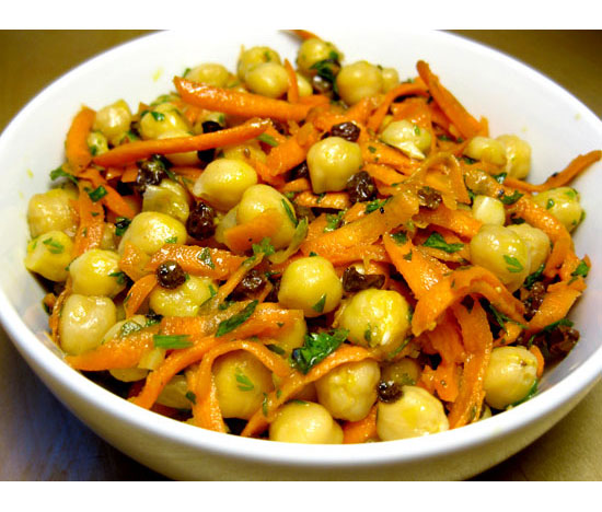 Chickpea, Carrot, and Currant Salad