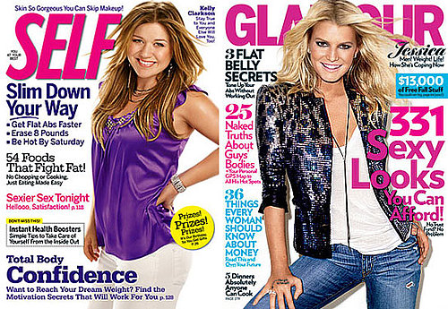 Kelly Clarkson and Jessica Simpson Discuss Body Image in Self and Glamour