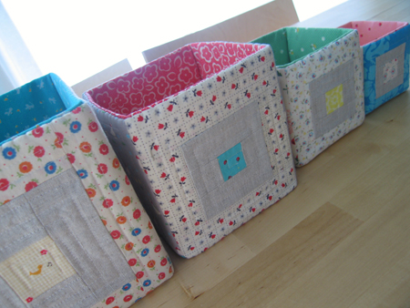 Sew, Mama, Sew has the steps for whipping up these quilted boxes.
