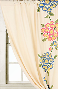 The Forget-Me-Not Curtains ($228 to $268) have an updated, big design that modernizes these flowers.
