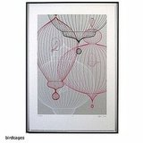 The Klein/Reid Fine Art Print ($475) echoes the shapes of the birdcages in the film.