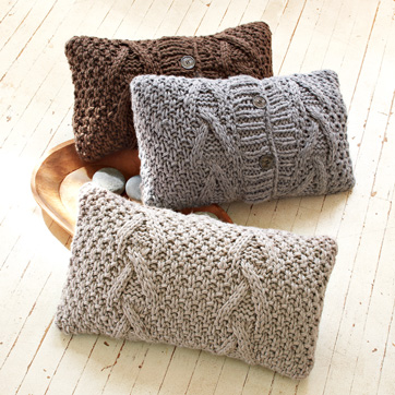 Luxury cashmere and wool knitwear designers Tina Lutz and Marcia Patmos (Lutz & Patmos) bring their brand of soft chic home with the Lutz & Patmos Cable Pillow Cover ($16.99, reduced from $39) at west elm.