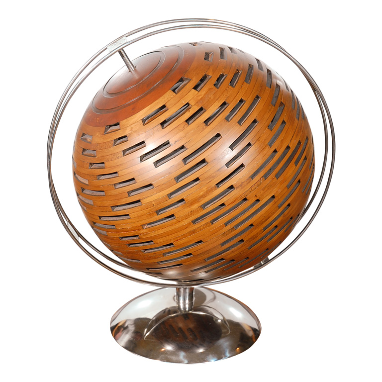 Get your own unusual globe with the Modern Wood and Chrome Globe ($2,500). It is too gorgeous!
