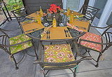 Sew4Home helps you spruce up your patio with these floral cushions.